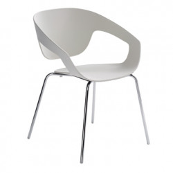 Chaise Vad, Casamania blanc ral 9002, pieds laqués