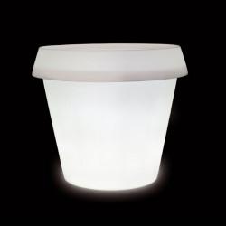Pot XXL lumineux Gio Monster H 184 cm, Slide Design blanc translucide
