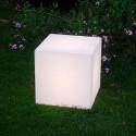 Cube lumineux Outdoor, Slide Design blanc 20 cm