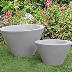 Petit X-pot blanc, Slide Design blanc Hauteur 50 cm