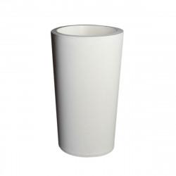 Grand X-pot blanc, Slide Design blanc Hauteur 83 cm