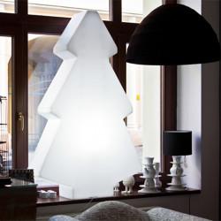 Sapin de Noël lumineux Lightree Indoor, Slide Design blanc Hauteur 45 cm