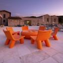 Fauteuil Low Lita, Slide Design orange