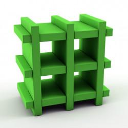 Etagère Booky Small Slide verte