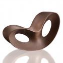 Rocking chair design Voido, Magis brun corten mat