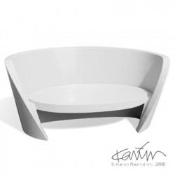 Canapé design Rap, Slide design blanc