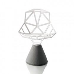 Chaise design One, Magis blanc, base gris béton verni