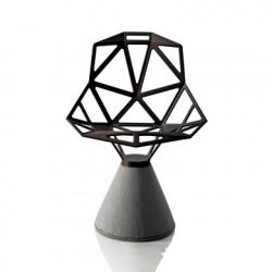 Chaise design One, Magis noir, base gris béton verni