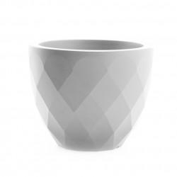 Pot Vases blanc, avec réserve d'eau, Vondom, diamètre 55 cm x hauteur 45 cm