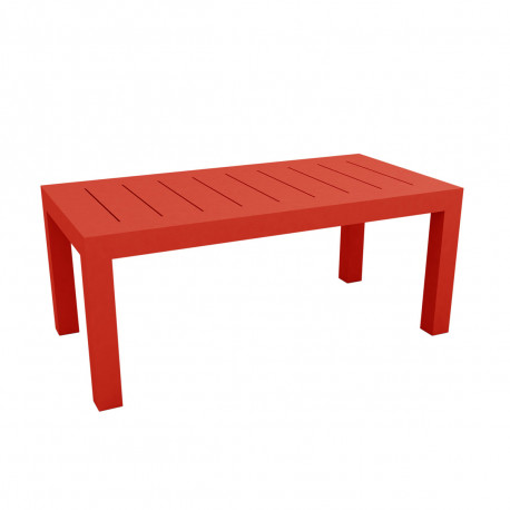 Table rectangulaire Jut L180cm, Vondom rouge