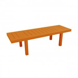 Table rectangulaire Jut L280cm, Vondom orange