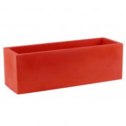 Jardinière rectangulaire grande taille Jardinera rouge, Vondom, simple paroi, Longueur 120x50xH50 cm