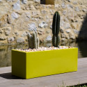 Jardinière rectangulaire grande taille Jardinera vert pistache, Vondom, simple paroi, Longueur 120x50xH50 cm