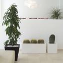 Jardinière rectangulaire grande taille, anthracite, avec système de réserve d'eau, Vondom, Longueur 120x50xH50 cm