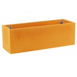Jardinière rectangulaire grande taille, orange, avec système de réserve d\'eau, Vondom, Longueur 120x50xH50 cm
