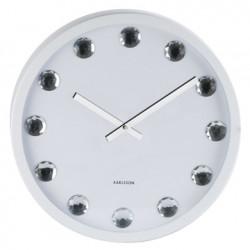 Horloge deco diamant blanc
