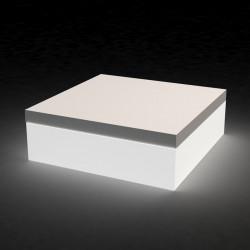 Pouf Quadrat lumineux, Vondom blanc Grand modèle