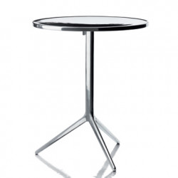 Central, table ronde pliante, Magis aluminium poli D60 cm