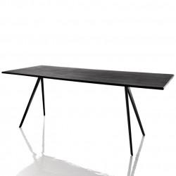 Baguette, grande table à manger design, Magis noir 205x85 cm