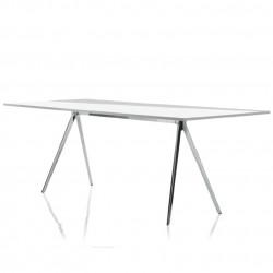 Baguette, grande table à manger design, Magis verre transparent 205x85 cm