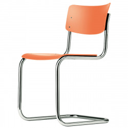 S43 Chaise luge Cantilever, Thonet rouge corail