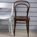 214M Chaise bistrot Thonet, assise bois marron