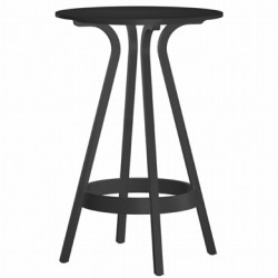 1410 Table haute Thonet noir laqué