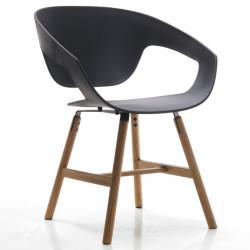 Chaise design Vad Wood, Casamania noir
