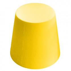Ali Baba, tabouret design, Slide Design jaune, hauteur d\'assise 43 cm