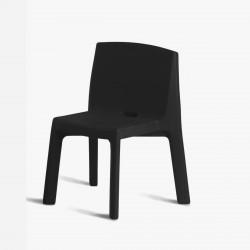 Chaise Q4, Slide design noir