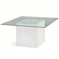 Table lumineuse Square, Slide Design blanc