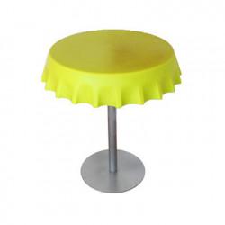 Fizzz, table medium ronde design diamètre 70 cm, Slide Design jaune