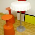 Table haute Fizzz, Slide Design noir