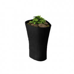 Pot Bones H 70 cm, Vondom noir
