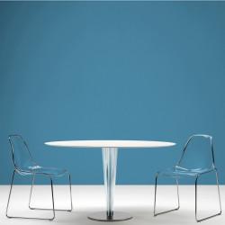 Day dream 401 chaise, Pedrali transparent, pieds chrome