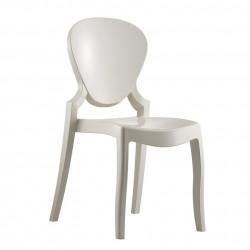 Queen 650 chaise design, Pedrali blanc