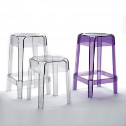 Rubik 580 tabouret haut, Pedrali violet transparent