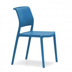 Lot de 4 chaises Ara 310, Pedrali bleu