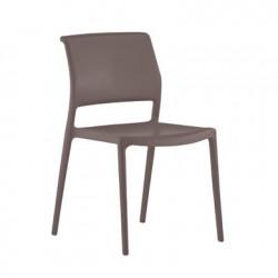 Lot de 4 chaises Ara 310, Pedrali marron
