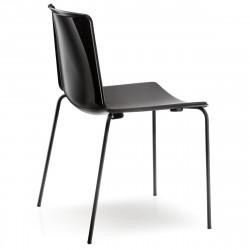 Lot de 4 chaises Tweet 890, Pedrali noir Pieds vernis