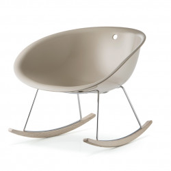 Gliss 350 Swing, rocking chair, Pedrali sable