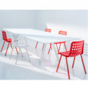 Arki, grande table design, Pedrali blanc 200x100 cm