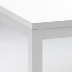 Kuadro table rectangulaire, Pedrali blanc L140x80cm