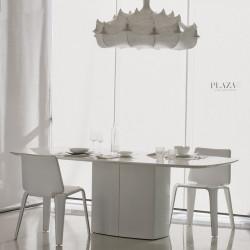 Aero, table design, Pedrali blanc L220 cm,