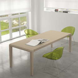 Exteso, table à rallonges, Pedrali chêne clair L178-278 cm