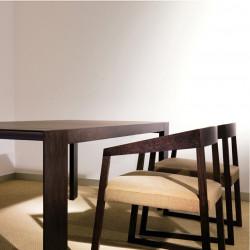 Surface, table en bois à rallonges, Pedrali chêne teinté wengé 188x90cm
