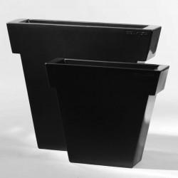 Pot Il Vaso laqué, Slide Design noir Grand modèle laqué