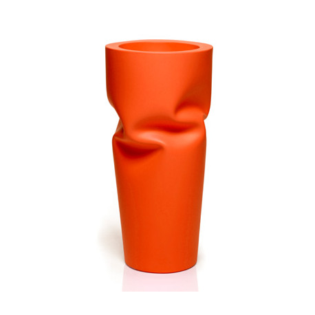 Pot design froissé Saving, Plust orange