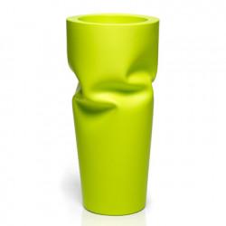 Pot design froissé Saving, Plust vert anis