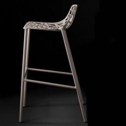 Tabouret de bar design Forest, Fast gris métal